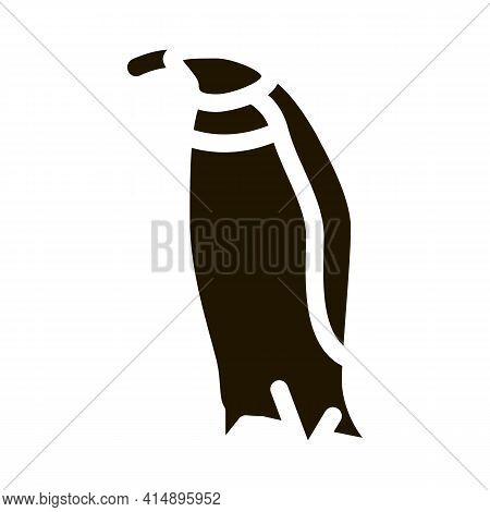 Penguin Bird Glyph Icon Vector. Penguin Bird Sign. Isolated Symbol Illustration
