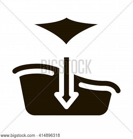 Bath With Hammock Glyph Icon Vector. Bath With Hammock Sign. Isolated Symbol Illustration