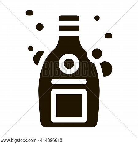 Shampoo Bottle Glyph Icon Vector. Shampoo Bottle Sign. Isolated Symbol Illustration