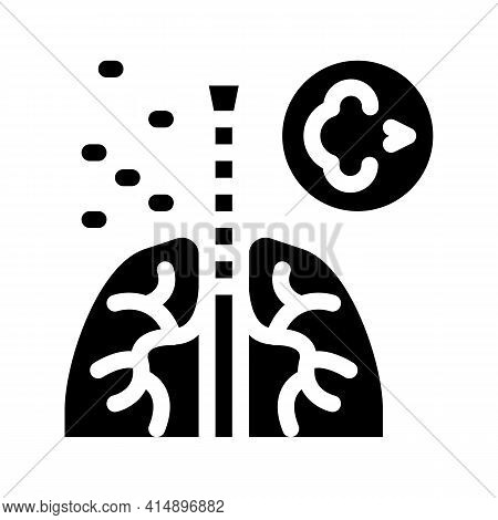 Asthma Attack Glyph Icon Vector. Asthma Attack Sign. Isolated Symbol Illustration