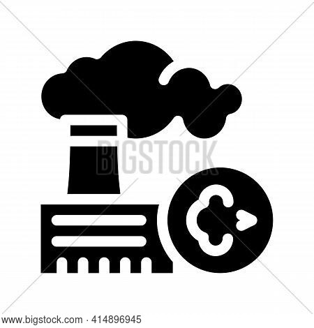 Allergy On Factory Smog Glyph Icon Vector. Allergy On Factory Smog Sign. Isolated Symbol Illustratio