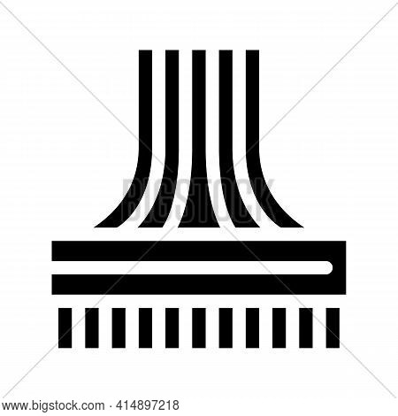 Computer Wires Glyph Icon Vector. Computer Wires Sign. Isolated Symbol Illustration