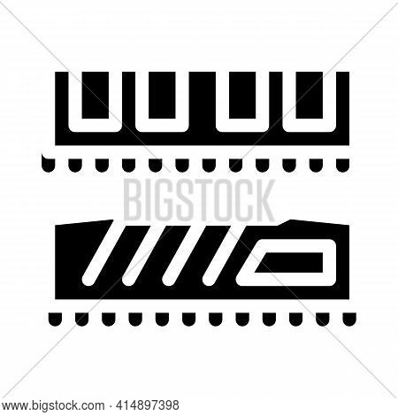 Riser Memory Cards Glyph Icon Vector. Riser Memory Cards Sign. Isolated Symbol Illustration