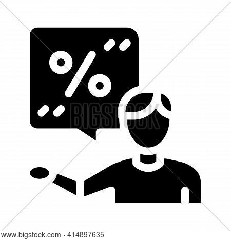 Client Bargaining Glyph Icon Vector. Client Bargaining Sign. Isolated Symbol Illustration