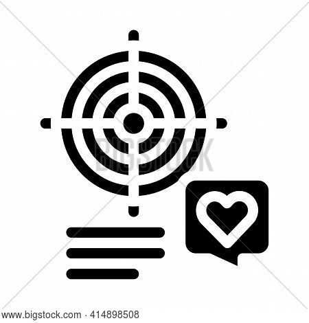 Shopper Target For Buy Products Glyph Icon Vector. Shopper Target For Buy Products Sign. Isolated Sy
