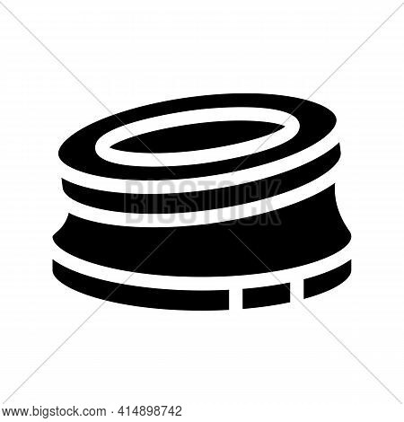 Bump Stop Karting Track Glyph Icon Vector. Bump Stop Karting Track Sign. Isolated Symbol Illustratio