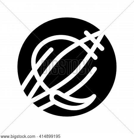Tears During Childbirth Trauma Glyph Icon Vector. Tears During Childbirth Trauma Sign. Isolated Symb