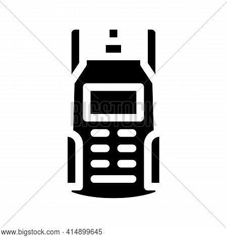 Electric Tester Cable Glyph Icon Vector. Electric Tester Cable Sign. Isolated Symbol Illustration