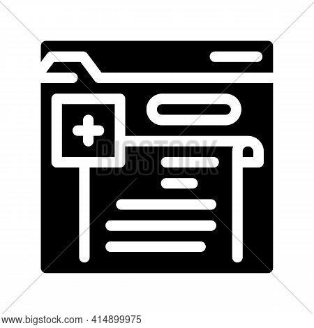 Online Prescription Glyph Icon Vector. Online Prescription Sign. Isolated Symbol Illustration