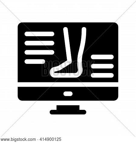 Symptomps Varicose Veins Web Site Glyph Icon Vector. Symptomps Varicose Veins Web Site Sign. Isolate