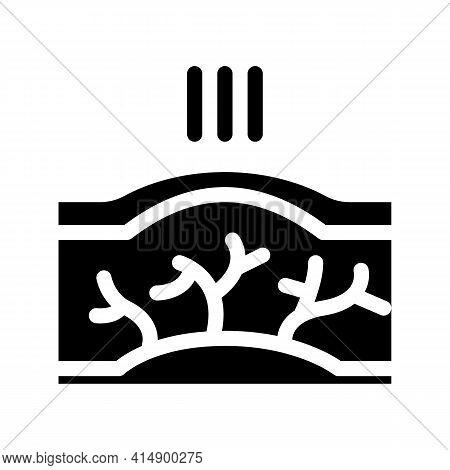 Varicose Veins Disease Glyph Icon Vector. Varicose Veins Disease Sign. Isolated Symbol Illustration