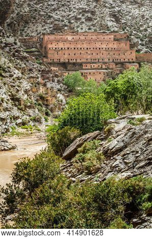 Abandoned Mines Village Of Aouli Near Midelt In Morocco, 2015
