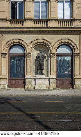 Statue Of Dr Ante Starcevic, A Croatian Politican, Zagreb, Croatia