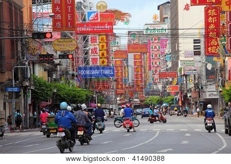 Thailand,bangkok - Oct 28:yaowarat Road,the Main Street In Chinatown, Once Of Bangkok Landmark And I