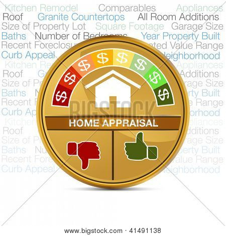 An image of a home appraisal meter.