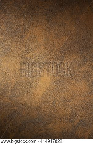 Painted background texture of canvas as abstract surface. Art paint stroke of oil painting at canvas background