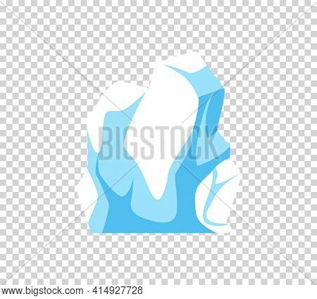Iceberg. Cartoon floating iceberg. Ocean ice rock landscape for climate and environment protection concept. Iceberg cold, nature winter glacier