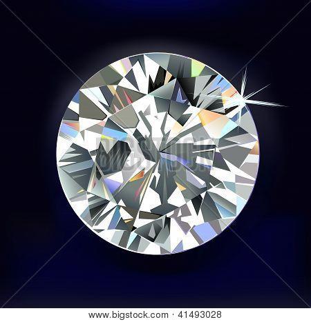 Diamond isolated on dark-blue background