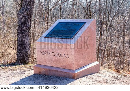 Gettysburg, Pennsylvania, Usa March 14, 2021 The 26th North Carolina Infantry Regiment Monument On M
