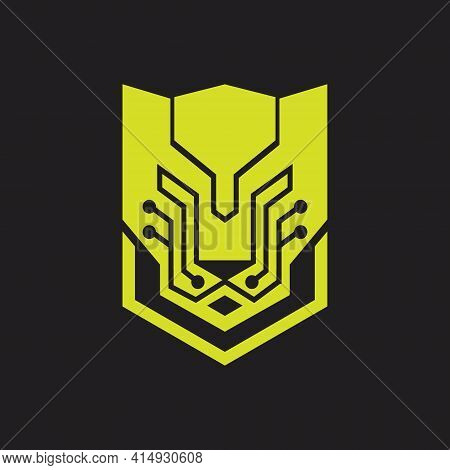 Tech Panther Head Logo. Tech Panther Icon