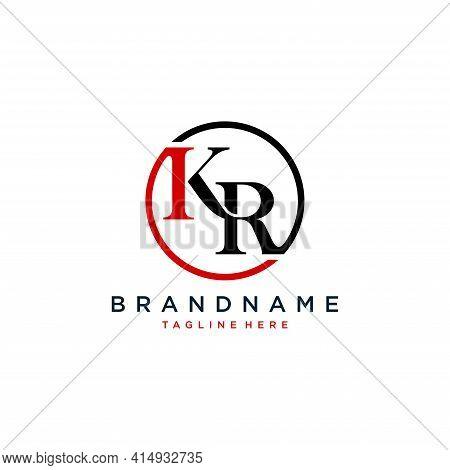 Alphabet Letters Initials Monogram Logo Kr.illustration Vector