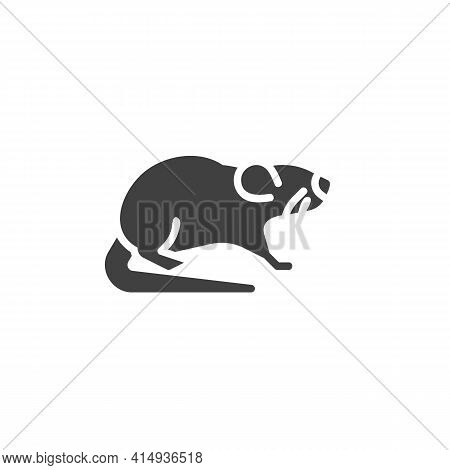 Rodent Mouse Vector Icon. Filled Flat Sign For Mobile Concept And Web Design. Rat Pet Glyph Icon. Sy