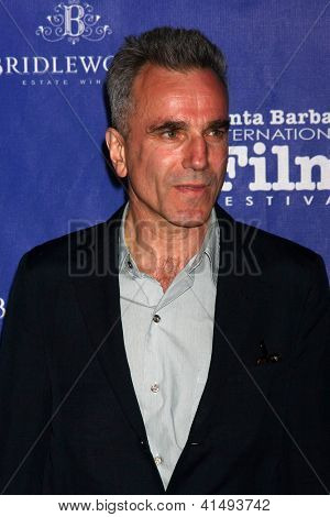 SANTA BARBARA - JAN 26:  Daniel Day-Lewis arrives at the Santa Barbara International Film Festival  Montecito Award at Arlington Theater on January 26, 2013 in Santa Barbara, CA