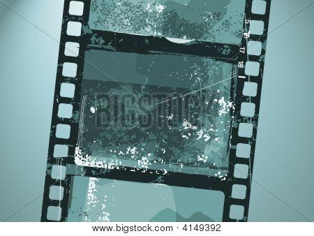 it is illustration of Grunge Film pattern poster