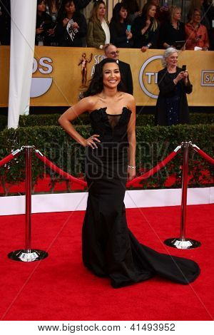 LOS ANGELES - JAN 27:  Nayaq Rivera arrives at the 2013 Screen Actor's Guild Awards at the Shrine Auditorium on January 27, 2013 in Los Angeles, CA
