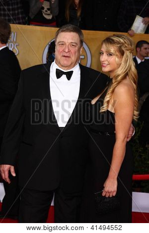 LOS ANGELES - JAN 27:  John Goodman arrives at the 2013 Screen Actor's Guild Awards at the Shrine Auditorium on January 27, 2013 in Los Angeles, CA