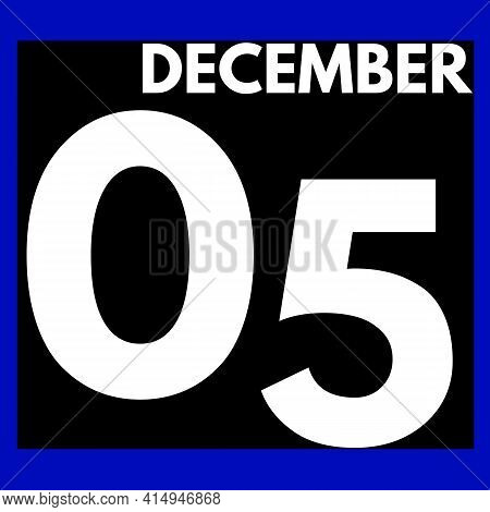 December 5 . Modern Daily Calendar Icon .date ,day, Month .calendar For The Month Of December