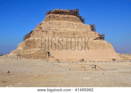 Step pyramid of Djoser in Saqqara, Egypt