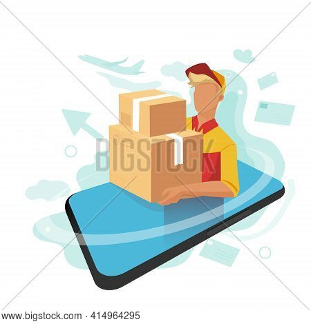 Tracking The Location Of The Parcel Through A Mobile App. Always Know Where Your Parcel Is.