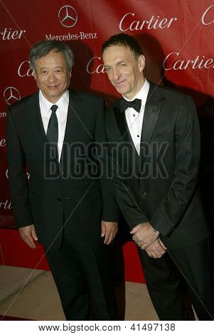 PALM SPRINGS, CA - JAN 5:Ang Lee and Mychael Danna arrive at the 2013 Palm Springs International Film Festival's Awards Gala at the Palm Springs Convention Center, January 5, 2013 in Palm Springs, CA.