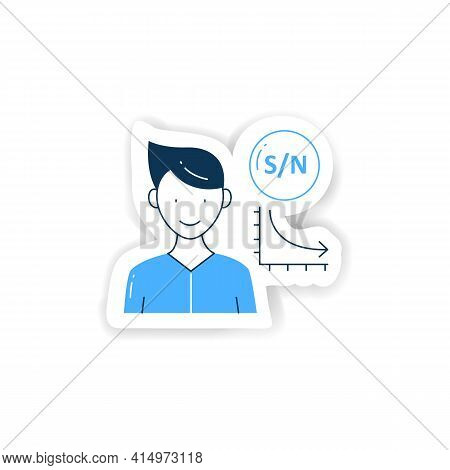 Low Signal Sticker Icon. Low Signal To Noise Ratio. Minimum Level To Establish Connections Badge For