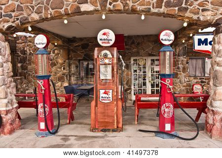 Vintage Route 66 Gas Station