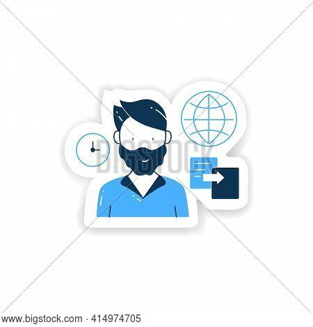 Data Duplication Sticker. Ease Duplication Data Across The Internet Badge For Designs. Copied Inform