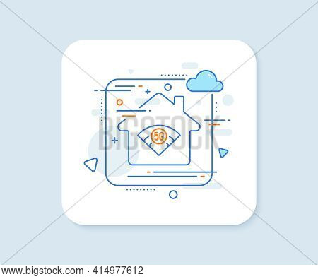 5g Wi-fi Technology Line Icon. Abstract Vector Button. Wifi Wireless Network Sign. Mobile Internet S