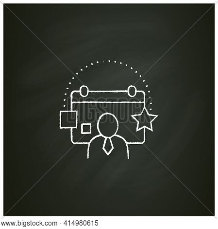 Customer Events Chalk Icon.emphasize Biggest Achievements, Present New Products Or Keep Good Contact