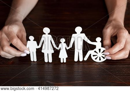 Cutout Paper Different Family Members Being Together. High Quality And Resolution Beautiful Photo Co