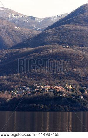 Swiss Town Over Maggiore Lake , Sant Abbondio