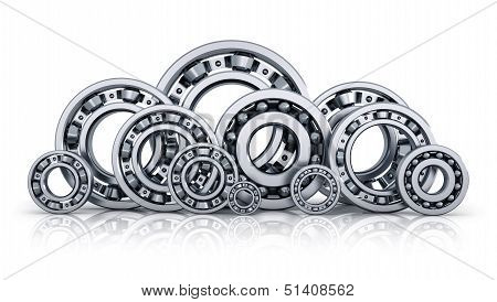 Collection of ball bearings