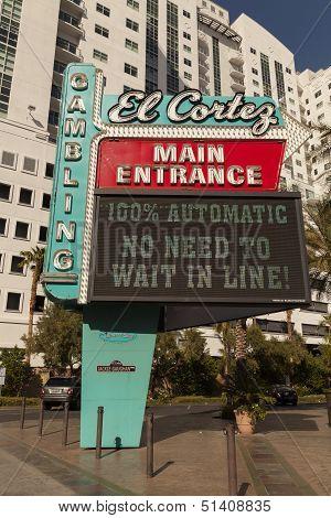 El Cortez Sign In Las Vegas, Nv On April 21, 2013