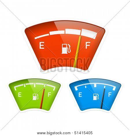 Fuel indicator. Vector.