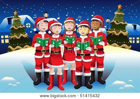Children Singing In Christmas Choir