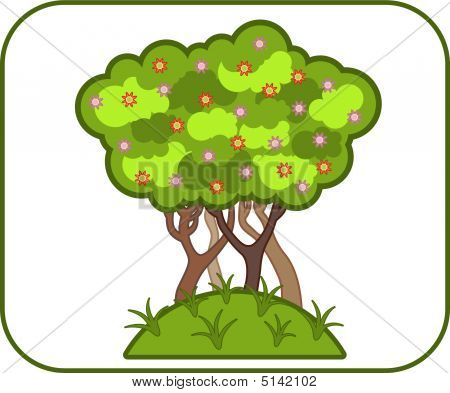Illustrations Of Colorful Vector Tree