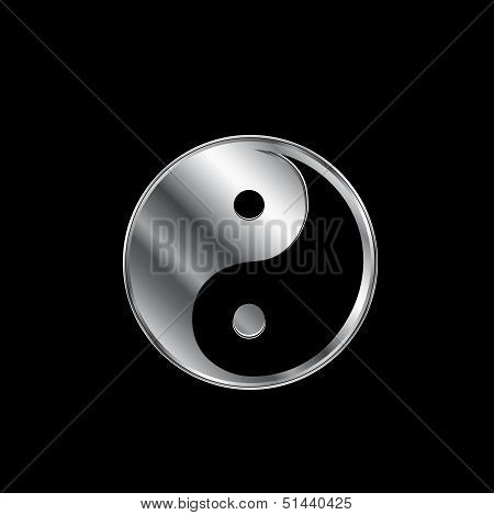 Ying and Yang religious icon