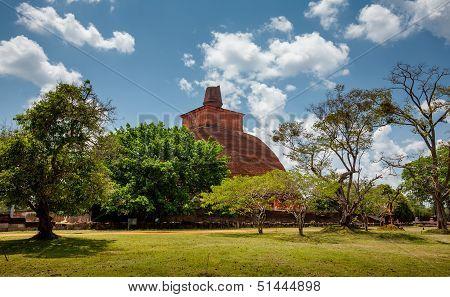 Abhayagiri - major monastery site of Theravada Buddhism that was situated in Anuradhapura Sri Lanka poster
