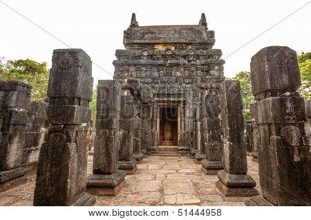 Nalanda Gedige ancient complete stone building near Matale Sri Lanka poster