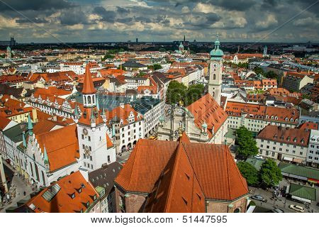 View of Munich city center. Munchen, Germany poster